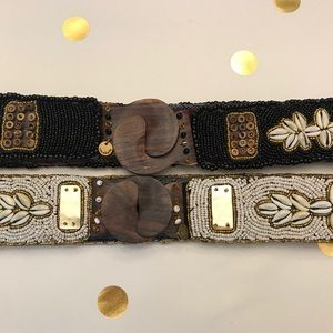 Anthropologie cocobelle x2 belts new 🌟🌟 30 inch